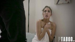 Gianna Dior overvallen door een vreemde in haar hotelkamer